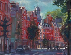 Marylebone High Street by Charles Rowbotham -  sized 11x9 inches. Available from Whitewall Galleries